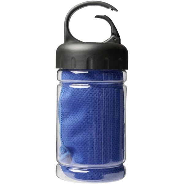 Remy cooling towel in PET container - Royal blue