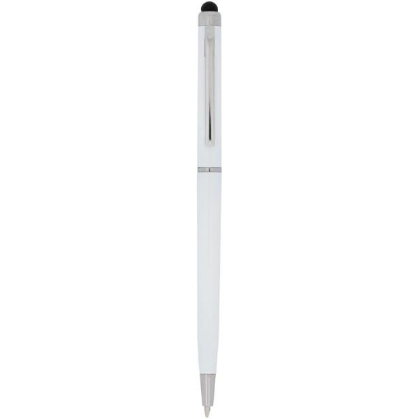 Valeria ABS ballpoint pen with stylus - White
