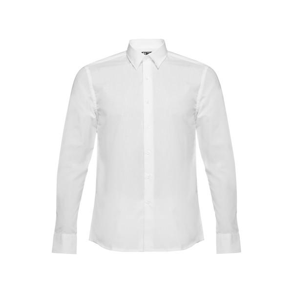 BATALHA. Ανδρικό πουκάμισο ποπλίν - Λευκό / S