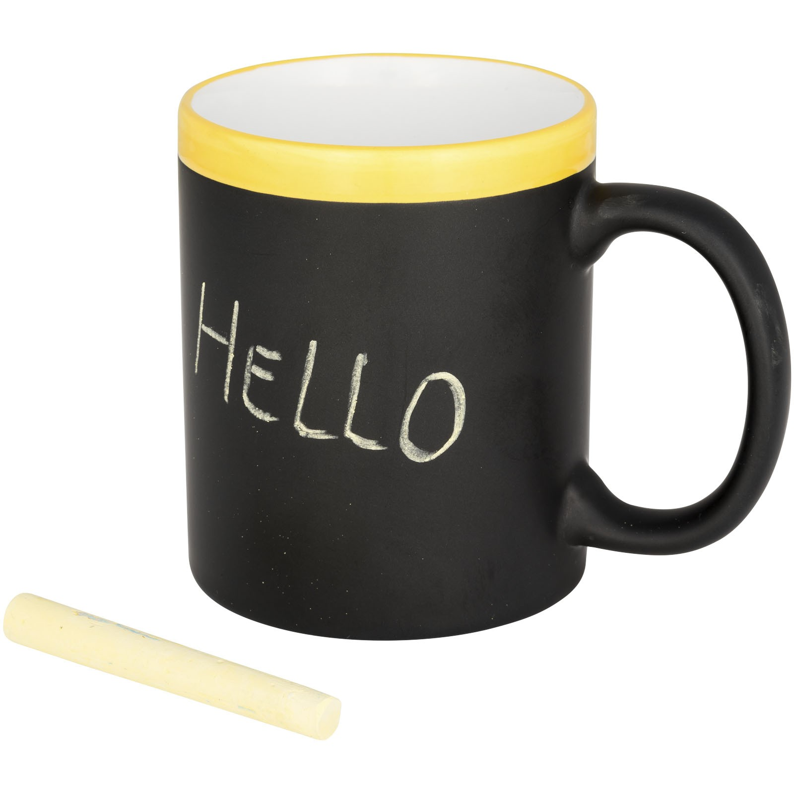 Chalk-write 330 ml Keramiktasse - gelb