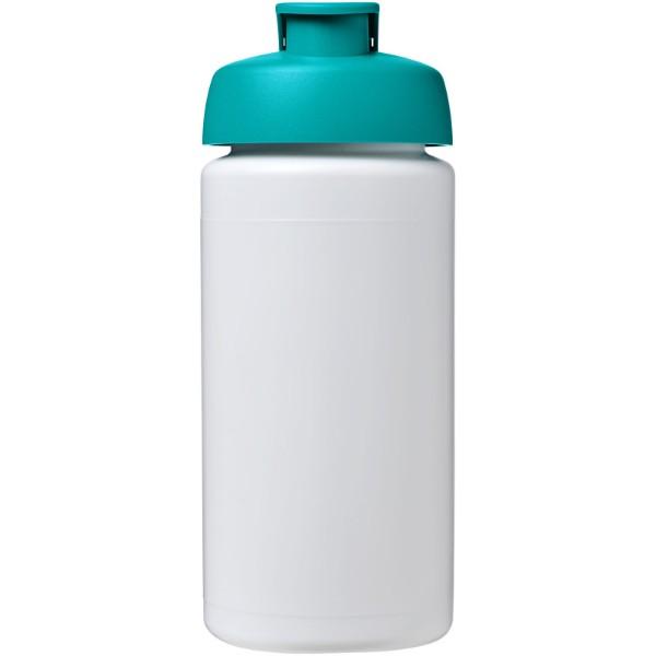 Sportovní láhev s vyklápěcím víčkem Baseline® Plus grip 500 ml - Bílá / Tyrkysová