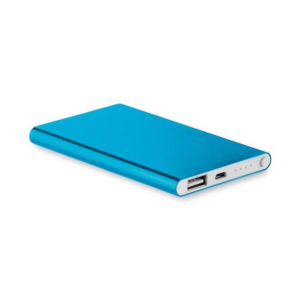 Flat power bank 4000 mAh Powerflat - Blue
