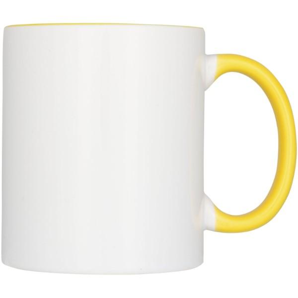 Ceramic Geschenkset mit 2 Bechern mit Sublimationsdruck - Gelb