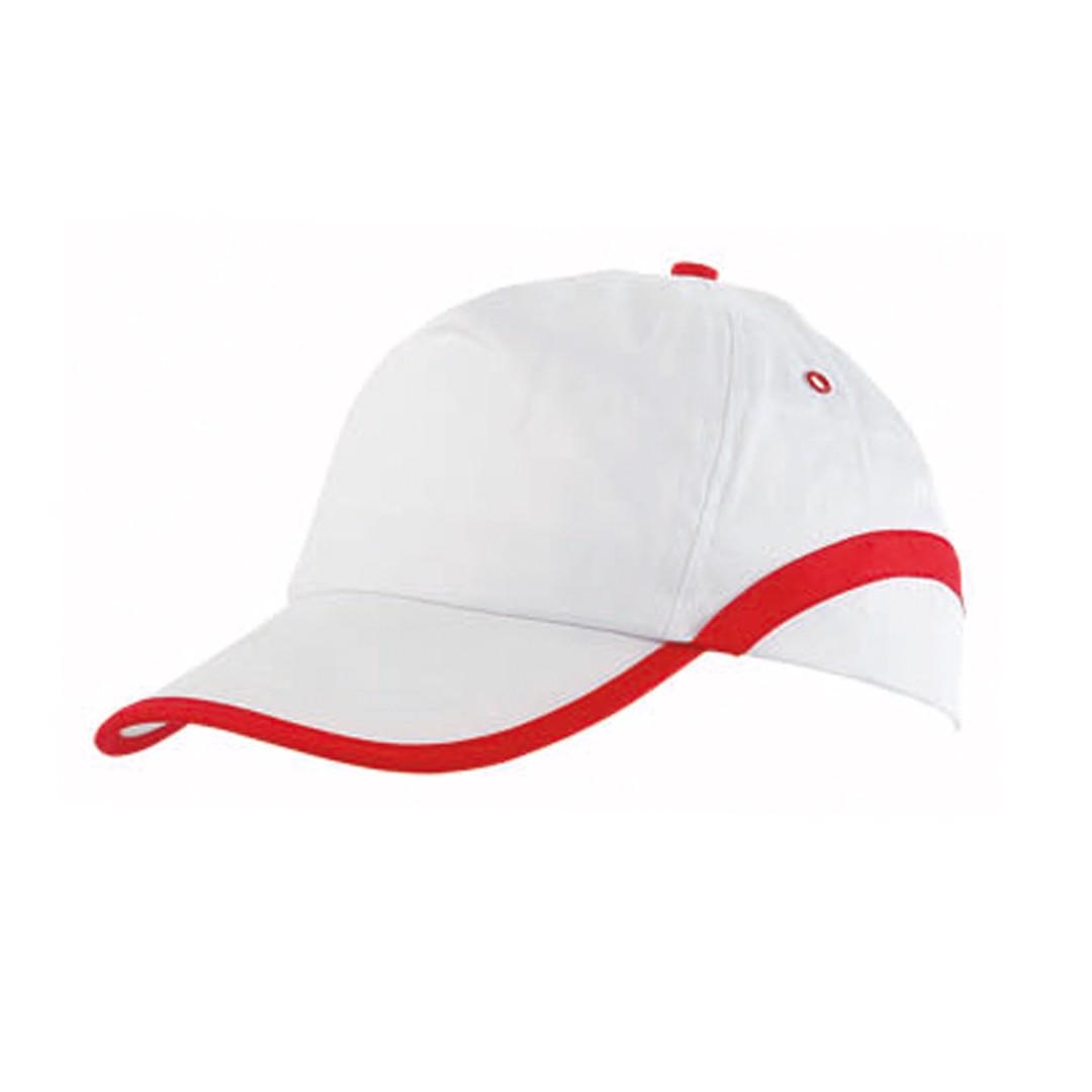Gorra Line - Blanco / Rojo