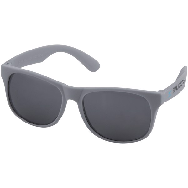 Retro einfarbige Sonnenbrille - Grau
