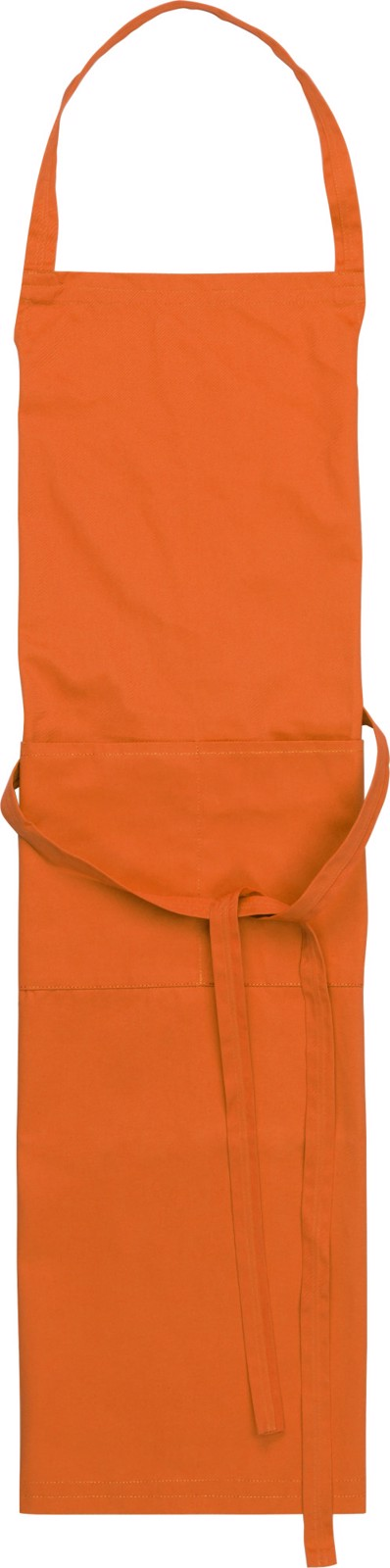 Cotton and polyester (240 gr/m²) apron - Orange