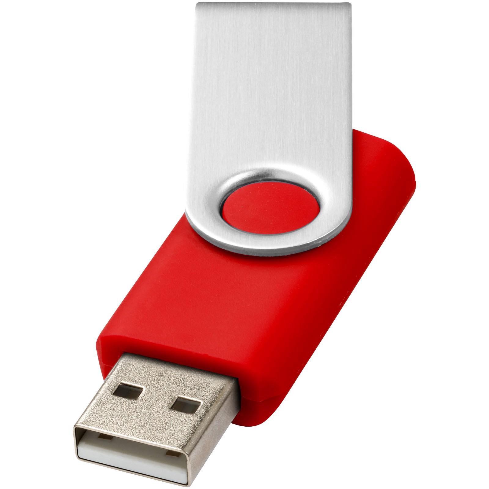 USB disk Rotate-basic, 1 GB - Světlečervená