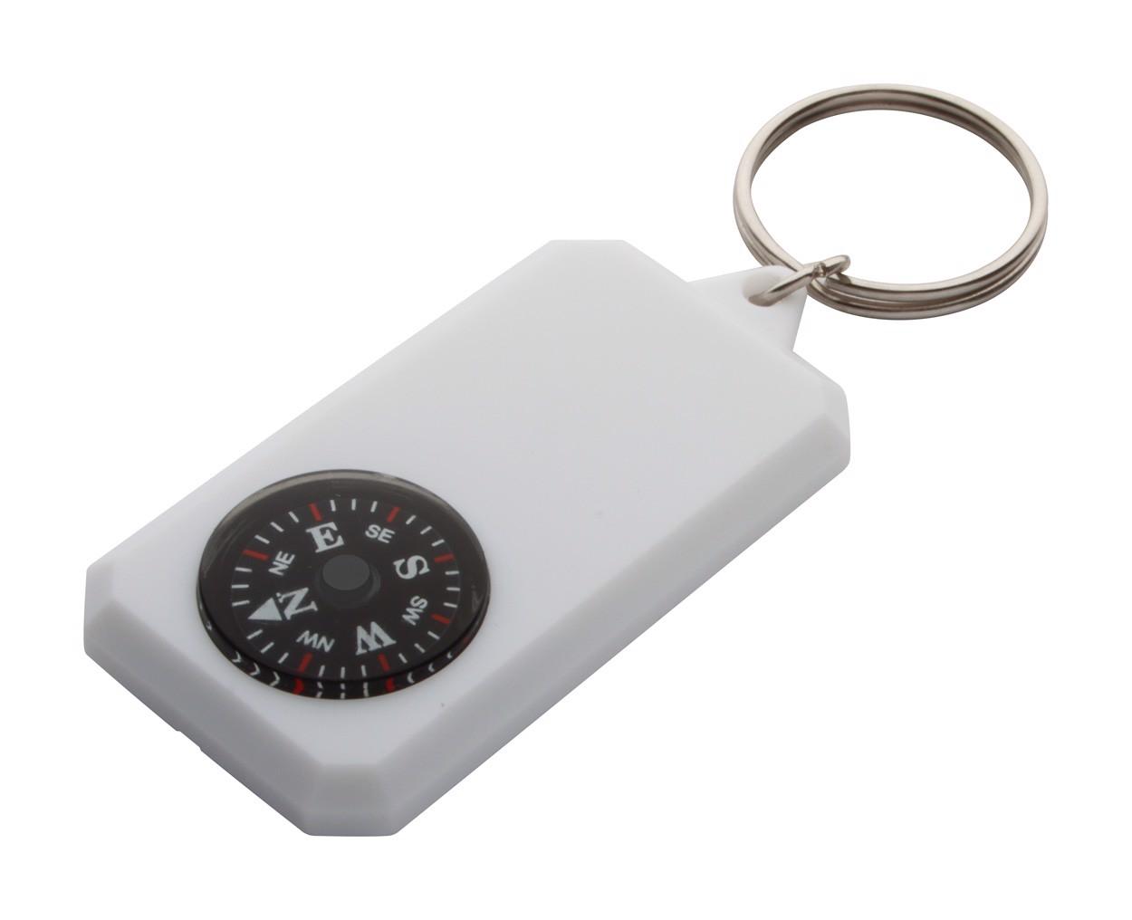 Přívěšek Na Klíče S Kompasem Magellan - Bílá