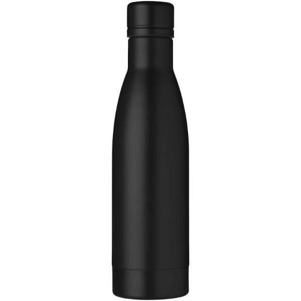 Miedziana izolowana próżniowo butelka Vasa z zestawem szczotek - Czarny