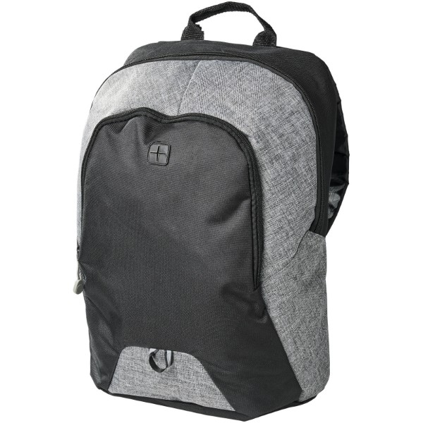 "Pier 15"" laptop backpack - Heather grey / Solid black"