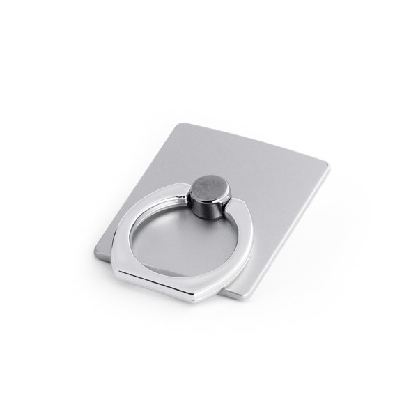 GEORGES. Loop ring support for smartphone - Satin Silver