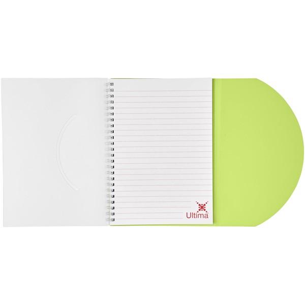 Poznámkový blok Curve A5 - Zelená s efektem námrazy / Bílá