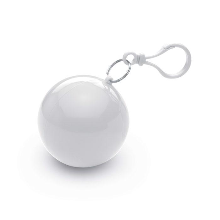 Regenponcho in Kugel Nimbus - weiß