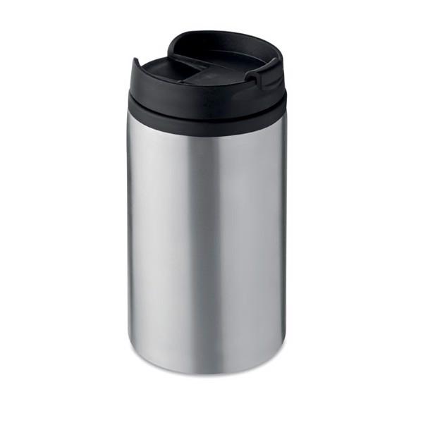 Vaso de doble capa 250 ml Falun - plata mate