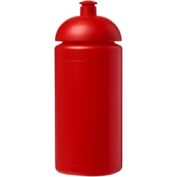 Sportovní láhev s kupolovitým víčkem Baseline® Plus grip 500 ml - Červená s efektem námrazy