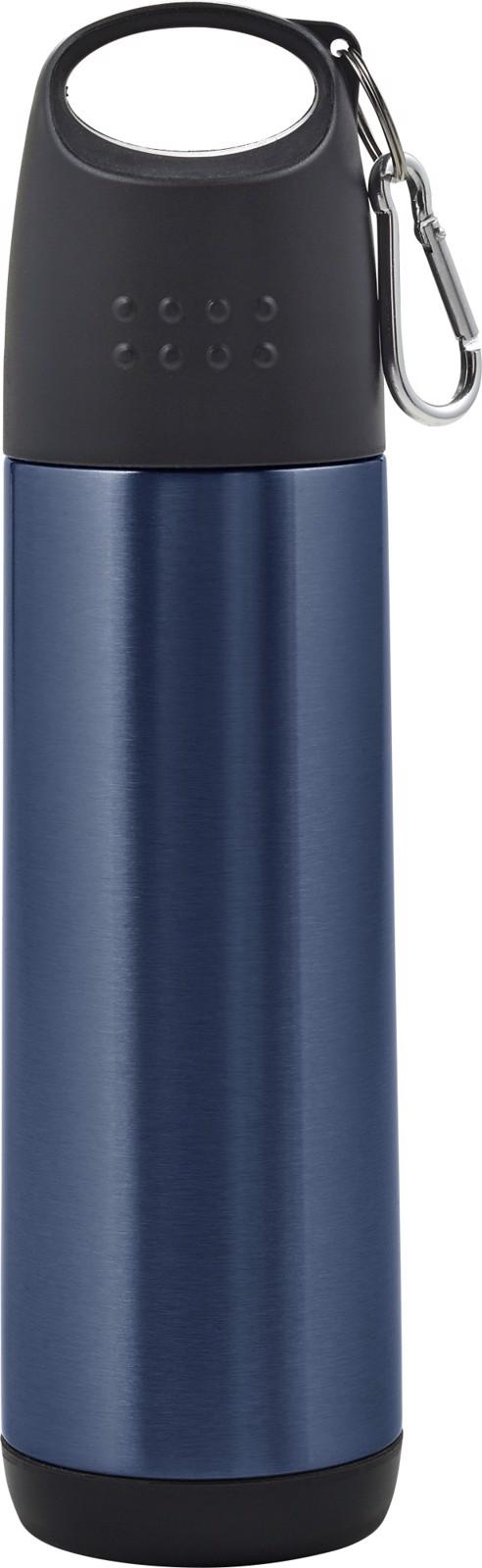 Aluminium double walled bottle - Light Blue