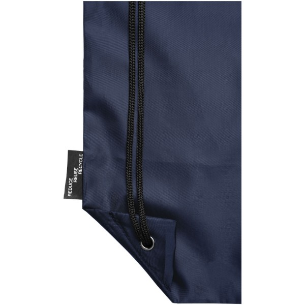 Oriole RPET drawstring backpack - Navy
