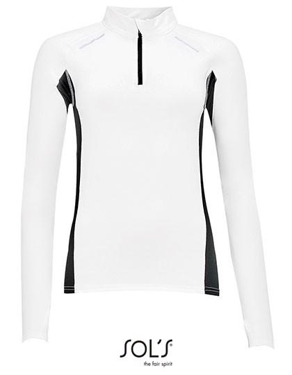 Women`S Long Sleeve Running Shirt Berlin - White / XXL