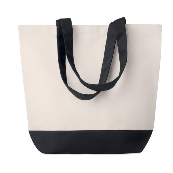 Canvas beach bag 280gr/m2 Kleuren Bag - Black