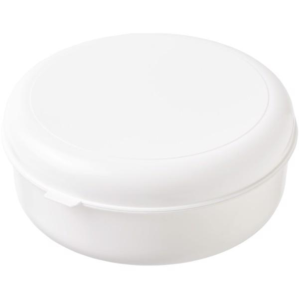 Kulatý plastový box na těstoviny Miku - Bílá