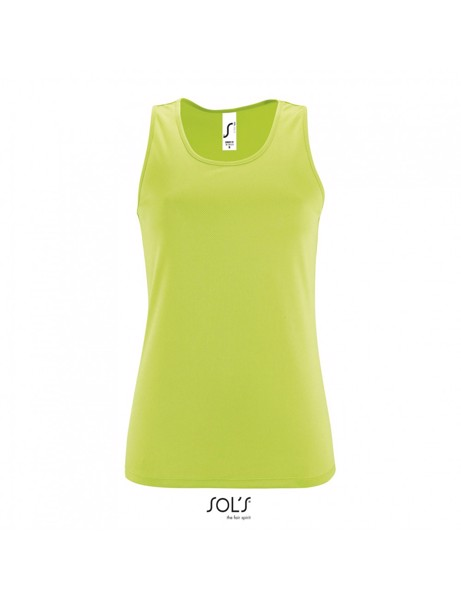 Sols Sporty Women's Raglan Tank Top T-shirt  - Apple Green / XS
