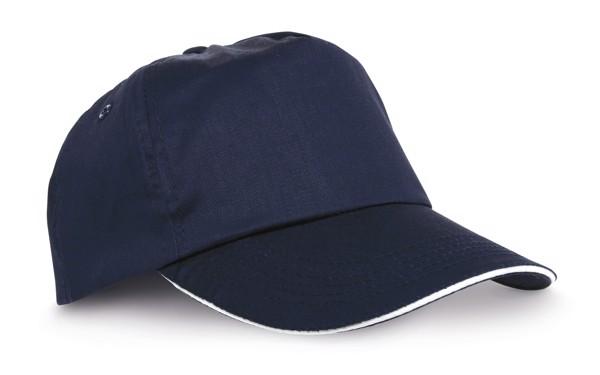"""CLAIRE. """"Sandwich"""" cap - Navy Blue"""