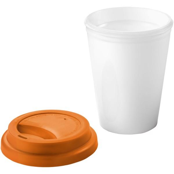 "Vaso isotérmico ""Zamzam"" - Blanco / Naranja"