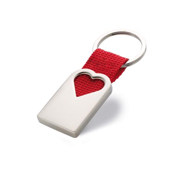 Heart metal key ring Bonheur