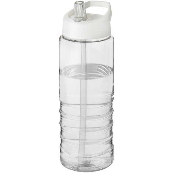 H2O Treble 750 ml sportovní lahev s víčkem s hubičkou - Průhledná / Bílá
