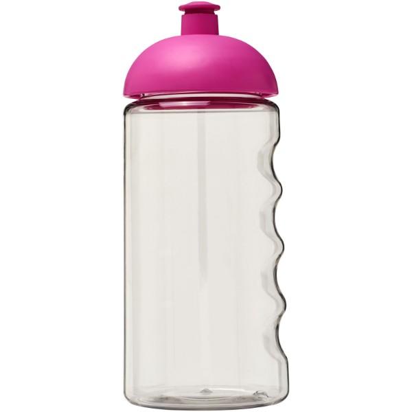 Láhev s kupolovitým víčkem H2O Bop® 500 ml - Průhledná / Růžová