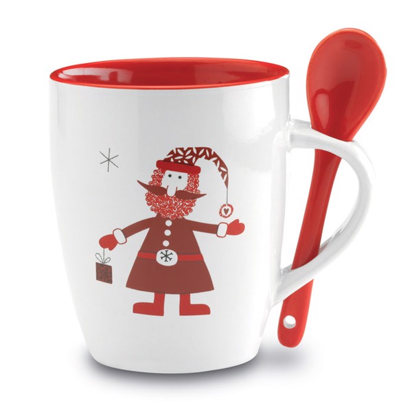 Mug with spoon Claus