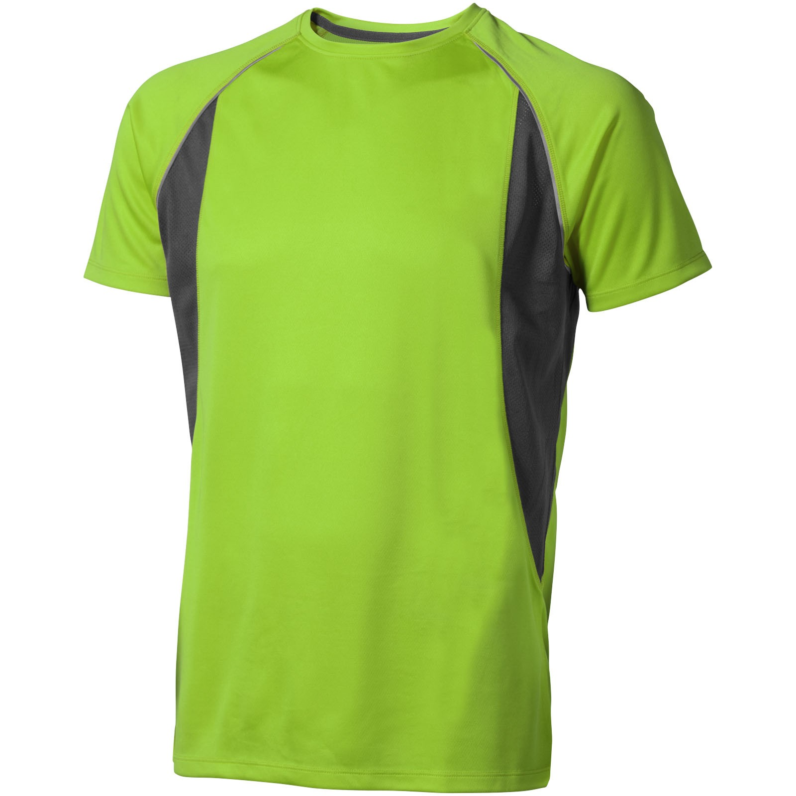 Quebec short sleeve men's cool fit t-shirt - Apple green / Anthracite / S