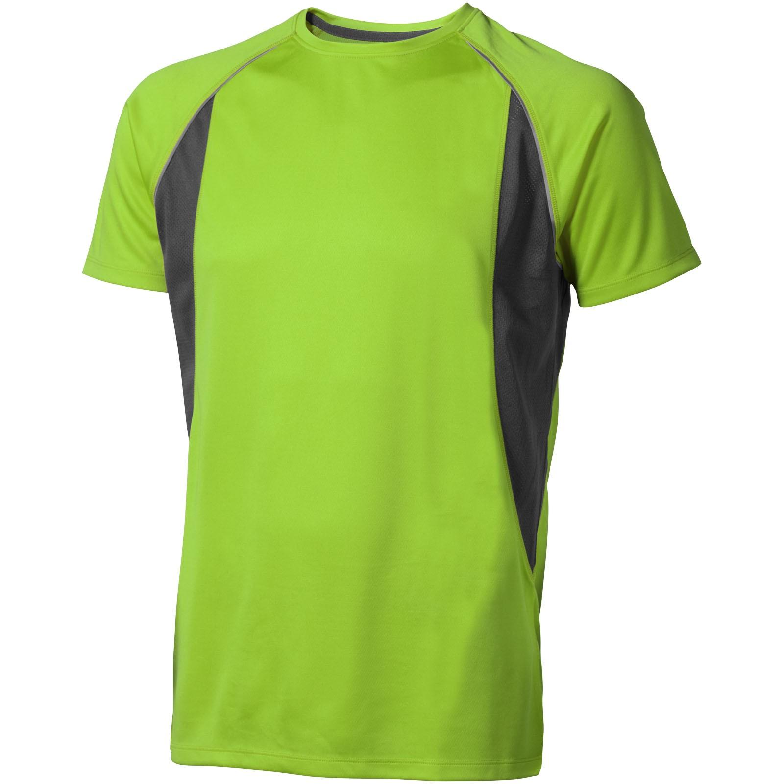 Pánské Tričko Quebec s krátkým rukávem, cool fit - Zelené jablko / Anthracitová / XXL