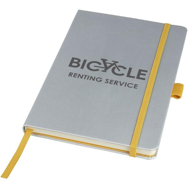 Barevný zápisník s pevnými deskami Meyla A5 - Stříbrný