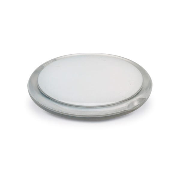 Rounded double compact mirror Radiance - Transparent