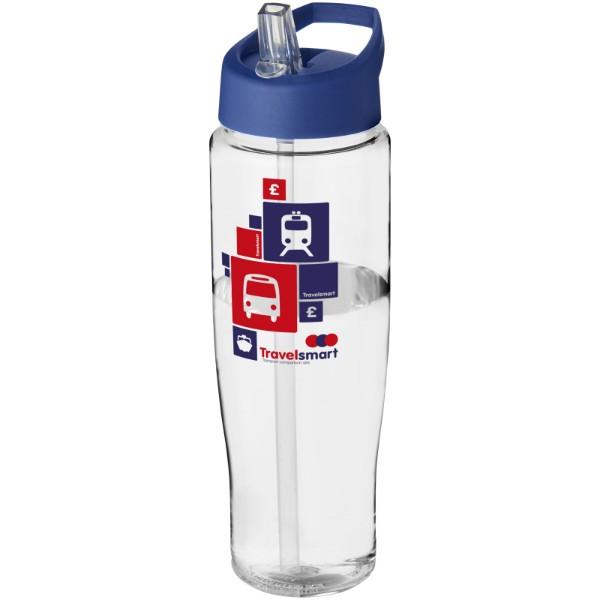 H2O Tempo® 700 ml spout lid sport bottle - Transparent / Blue