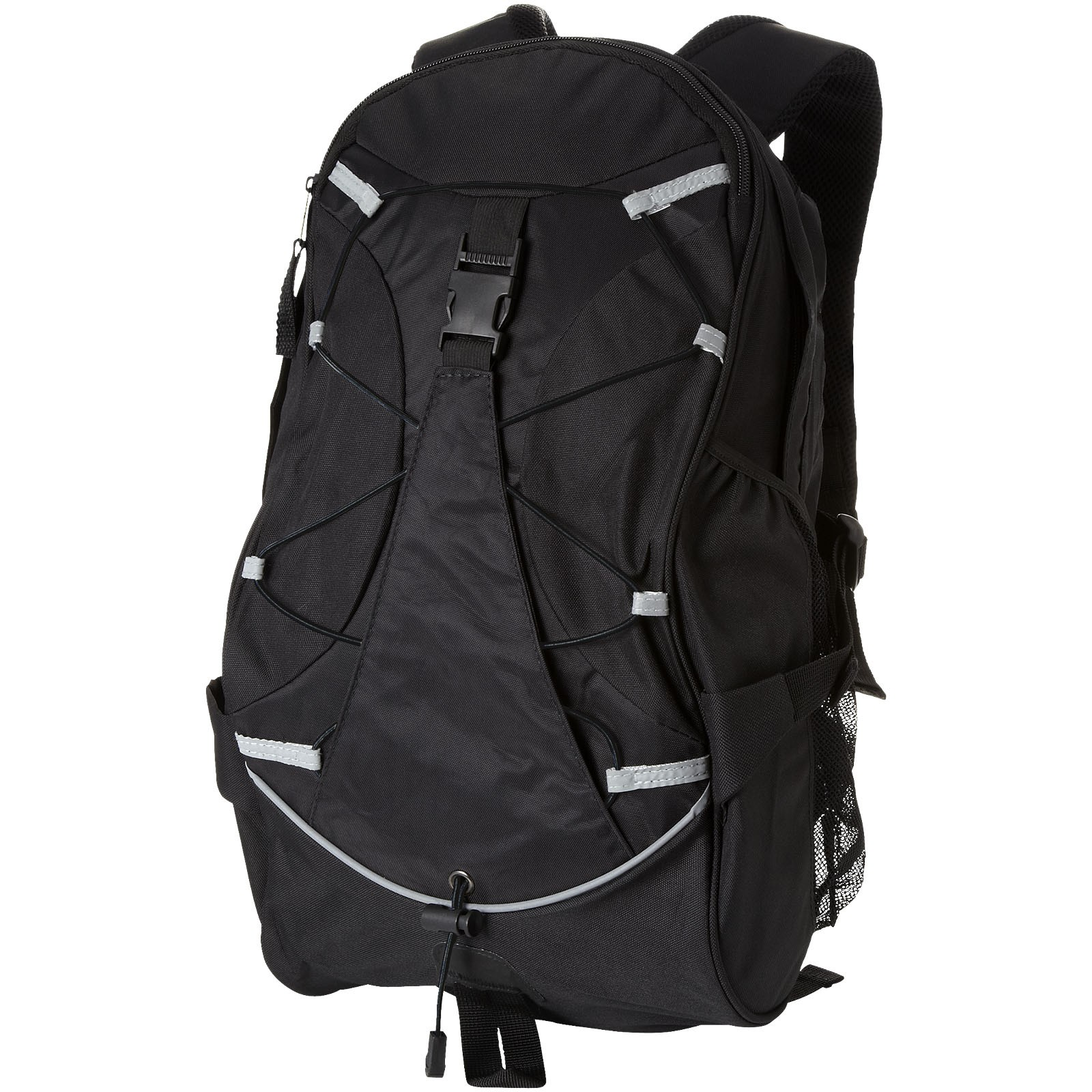 Hikers elastic bungee cord backpack - Solid black