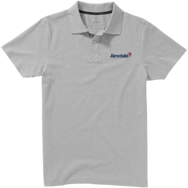 Seller short sleeve men's polo - Grey melange / S