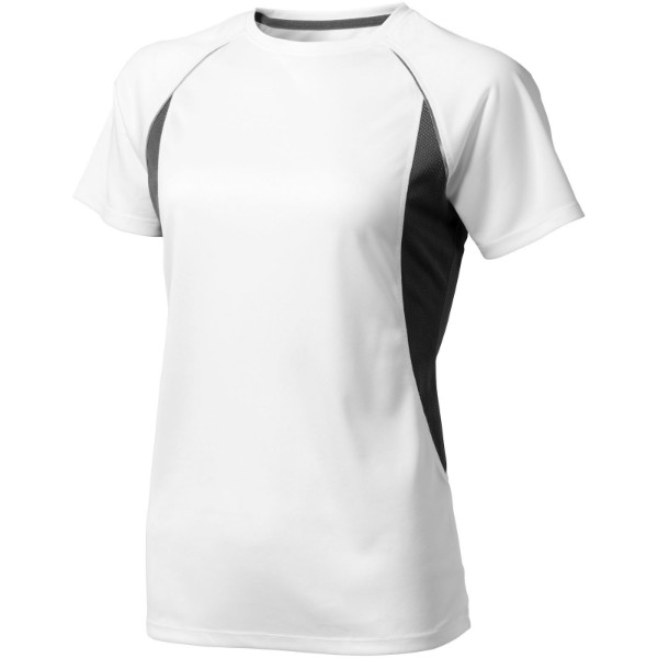 Quebec short sleeve women's cool fit t-shirt - White / Anthracite / L