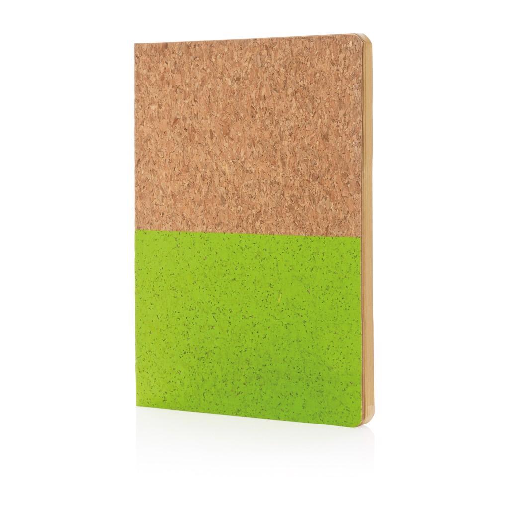 Korkový poznámkový blok A5 - Zelená