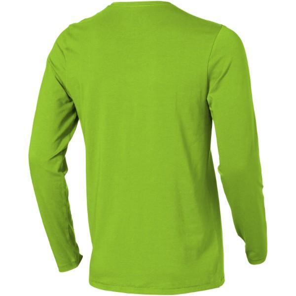 Camiseta de manga larga ecológica de hombre Ponoka - Verde Manzana / 3XL