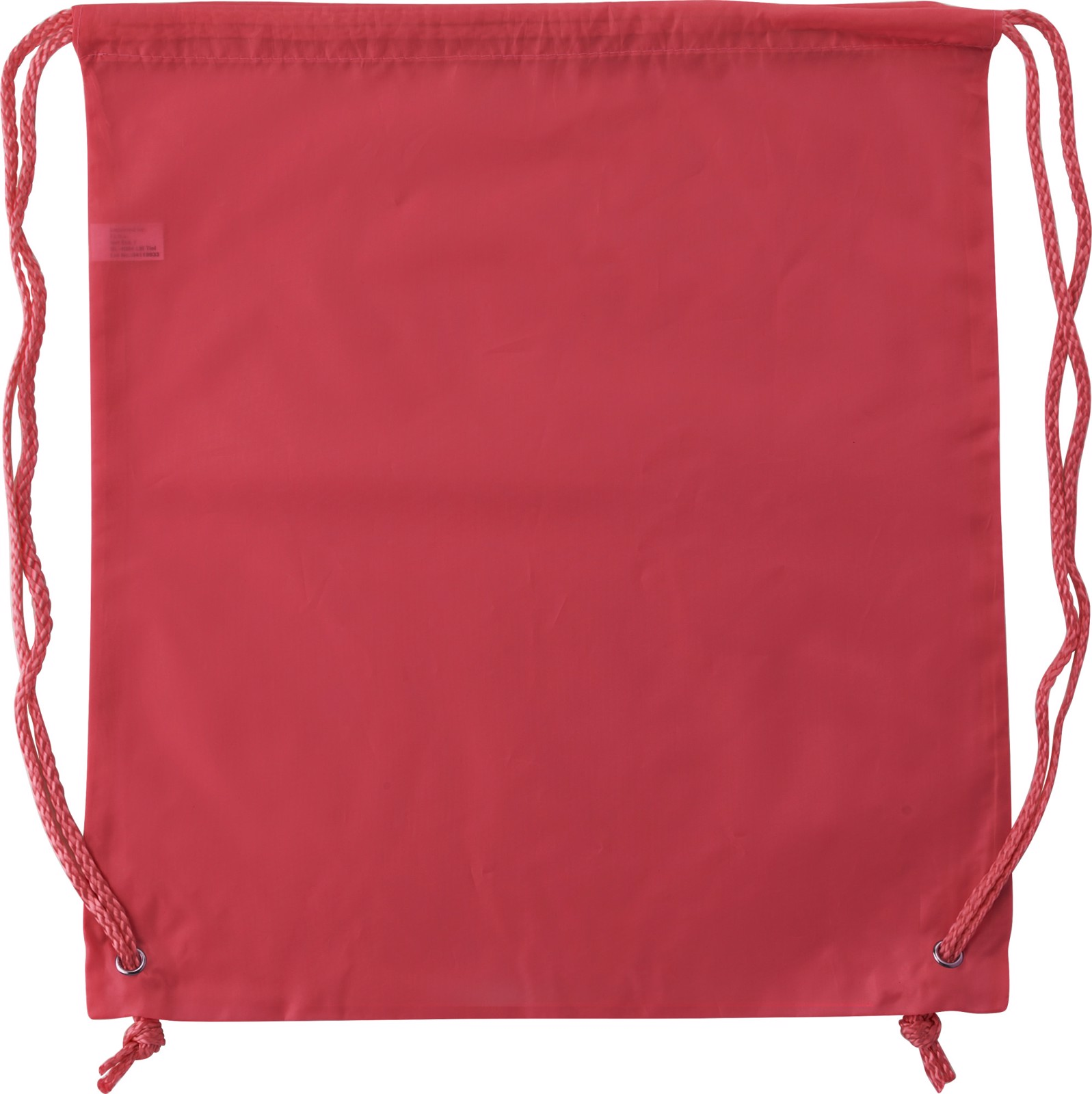 Polyester (190T) drawstring backpack - Red