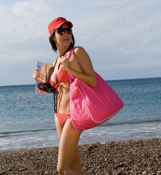 Plážová Taška Maxi - Růžová