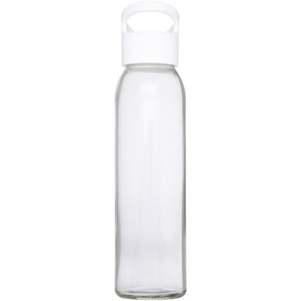 Sky 500 ml glass sport bottle - White