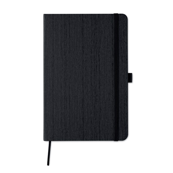 A5 notebook in PU with penloop Woody - Black