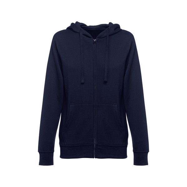 THC AMSTERDAM WOMEN. Dámská mikina na zip s kapucí - Námořnická Modrá / L