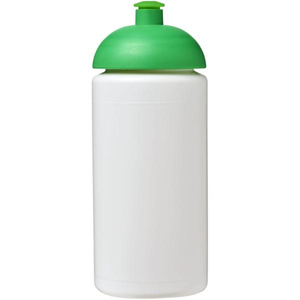 Sportovní láhev s kupolovitým víčkem Baseline® Plus grip 500 ml - Bílá / Zelená