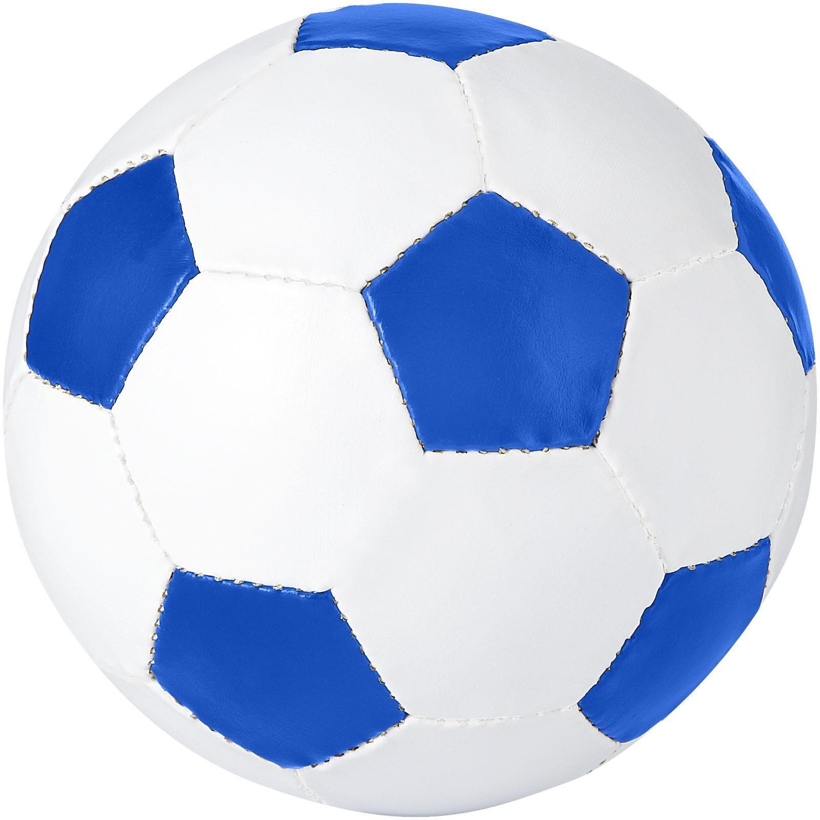 Fotbalový míč Curve - Světle modrá / Bílá