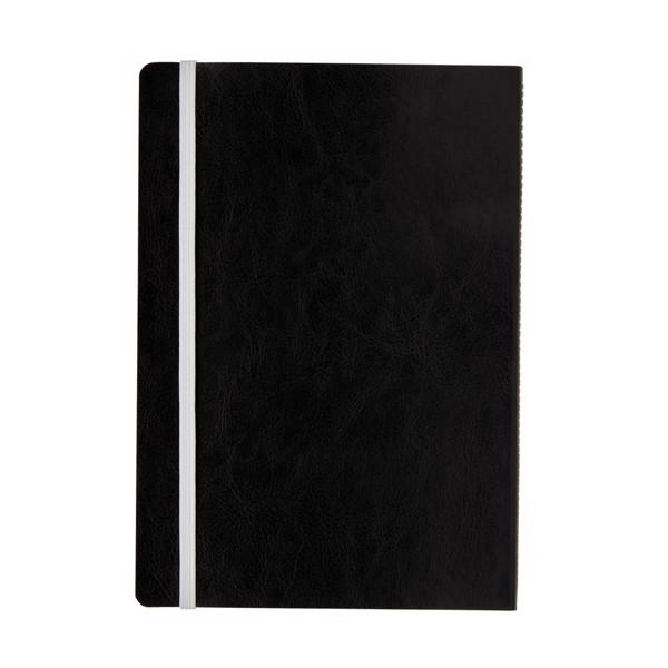 Deluxe A5-ös puhafedelű jegyzetfüzet színes éllel - Fehér