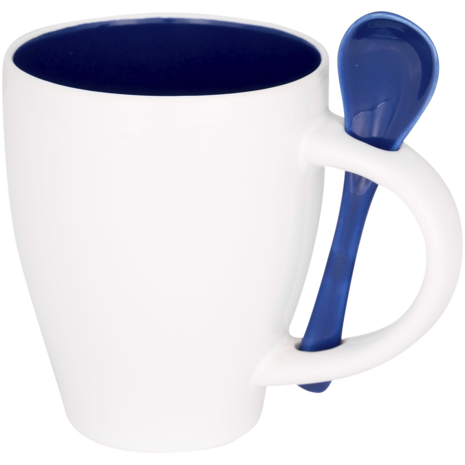 Nadu 250 ml ceramic mug with spoon - Blue